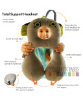 BenBat Travel Friends Total Support Headrest Frog (0-12 months old)