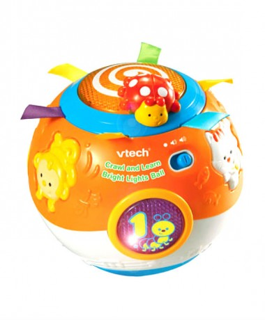 VTech Crawl and Learn Bright Lights Ball - FREE BATTERIES