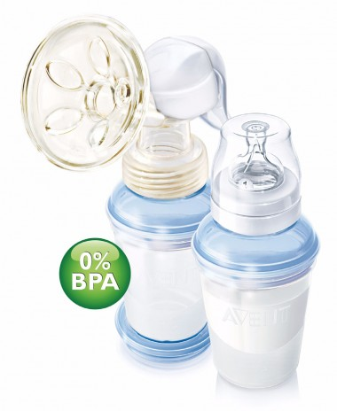 Philips AVENT BPA Free with VIA Storage System Manual Breastpump - PES
