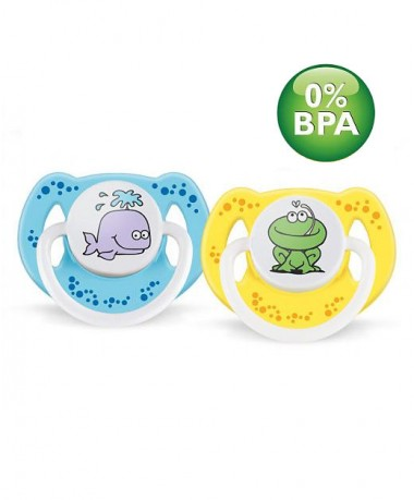 Philips AVENT Fashion Pacifier BPA Free Bright, colorful animal design 6-18 months