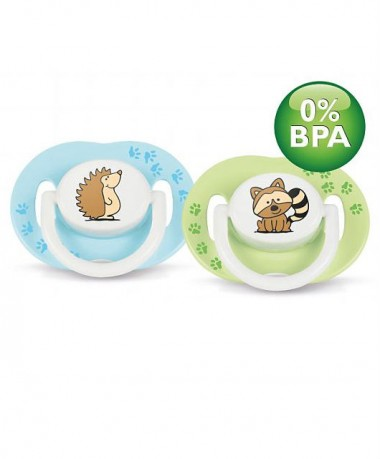 Philips AVENT Fashion Pacifier BPA Free Bright, colorful animal design 3-6 months