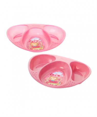 Tommee Tippee Explora Decorated Section Plates (Pack of 2) Pink