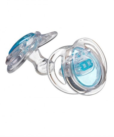 Tommee Tippee Closer To Nature Pure Soother 0-3 months (2pcs) Blue